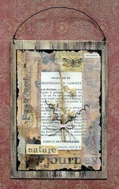 Laurart: Nature in Neutral Atc Cards, Mixed Media Art, Altered Art, Nature, Vintage World Maps, Neutral, Canvas, Card Ideas, Projects