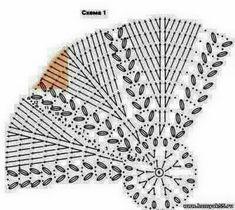 Crochet Doilies, Crochet Hats, Neck Warmer, Hand Fan, Stitch Patterns, Crochet Patterns, Headbands, Scarfs, Diagram