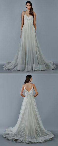 322 best Coloured Bridal Gowns images on Pinterest | Wedding frocks ...