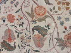 Chintz hanging and associated fragments. | Coromandel Coast, India / first quarter 18th century / Painted and dyed cotton chintz, and sewn with gimp braid