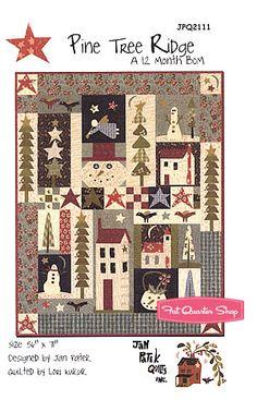 Pine Tree Ridge Block of the Month Quilt Pattern Jan Patek Quilts