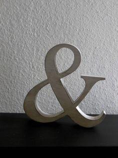 """Buchstaben & Schriftzüge - Großes """"&"""" Zeichen , shabby 25/3,6 cm - ein Designerstück von Designsouris bei DaWanda"""