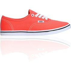 Vans Girls Authentic Lo Pro Hot Coral & True White Shoe, if only they were in my size.