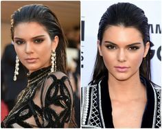 cabelos_com_efeito_molhado_kendall-jenner-efeito-molhado-festa-cabelo-amend Curling, How To Make Hair, Make Up, Kendall Jenner, Pretty Hurts, Glossy Hair, Party Hairstyles, Healthy People 2020, American