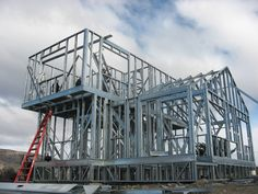 Steel Frame House, Steel House, Steel Framing, Steel Buildings, Steel Structure, Interior Exterior, Beams, Fair Grounds, Metal