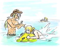 Zaveid will never stop making fun of Eizen's inability to swim. Tales Of Berseria Characters, Fictional Characters, Tales Of Zestiria, Tales Series, Anime Life, Art Blog, Cool Things To Make, Game Art, Swim