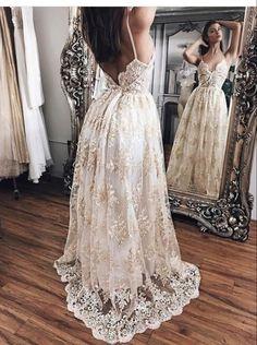 Sexy Spaghetti Straps Prom Dress,Long Prom Dresses,Cheap Prom Dresses, Evening
