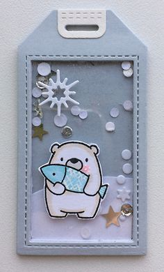 Tag winter christmas critters polar bear MFT Bitty bears Die-namics MFT Blueprints Tag Builder 5 Die-namics shaker tags #mftstamps - JKE