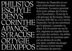 DAMOCLES  Typeface drawn from calligraphies.  Supervised by Franck Jalleau & Michel Derre  February 2017 Typography Poster, Graphic Design Typography, Grid Layouts, Editorial Design, Types Of Lettering, Brutalist, Type Design, Calligraphy, Logos