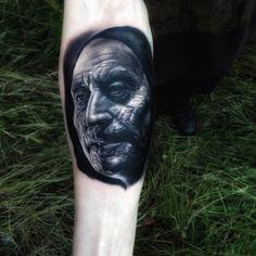 Different Colors, Tattoo Designs, Portrait, Tattoos, Tatuajes, Portrait Illustration, Japanese Tattoos, Design Tattoos, Tattoo