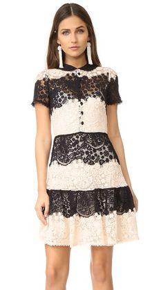 3316020bdc RED VALENTINO Striped Lace Mini Dress.  redvalentino  cloth  dress  top