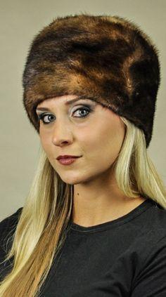 Cappello in visone Scandinavo naturale  www.amifur.it