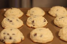 THM Chocolate Chip Pudding Cookies (S). These are so good and easy to make. I didn't have whey protein powder, so I added a little extra almond flour. Super moist and delicious. Trim Healthy Recipes, Healthy Dessert Recipes, Cookie Recipes, Delicious Desserts, Thm Recipes, Low Carb Sweets, Healthy Sweets, Low Carb Desserts, Healthy Cookies