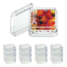 "pc Clear Acrylic Bead Display Box Containers - 1-1/4"" x 1-1/4"""