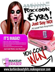 Tired of spending money on makeup removers & one time use towelettes? Well, fret no more as you can WIN a MAKEUP ERASER! Find out how this works now!