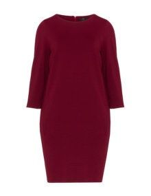 Jo and Julia O-Linien-Kleid mit Eingriffstasche in Bordeaux Rot