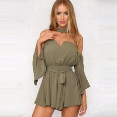 34.48$  Buy here - http://viril.justgood.pw/vig/item.php?t=f8bqn459616 - One Piece Strapless V-Neck Women Pleated Romper 34.48$