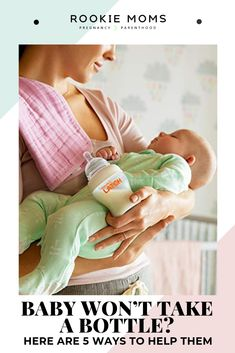 So your baby won'?t take a bottle. While this is not the worst thing to be dealing with it can be extremely frustrating. Here are 5 tips that will help! Baby Wont Take Bottle, Baby Hacks, Baby Tips, Breastfeeding Holds, Mother Daughter Activities, Best Baby Bottles, Baby Due Date, Bottle Feeding, Newborn Care