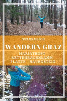Wanderung in Mariatrost: Rettenbachklam & Co Hallstatt, Heart Of Europe, Austria, Places To Go, Hiking, Outdoor, Travel, Live, Beautiful