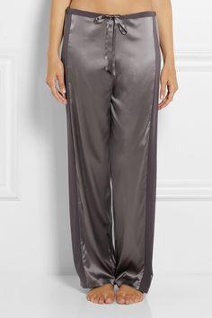 LA PERLA Stretch-silk satin pajama pants