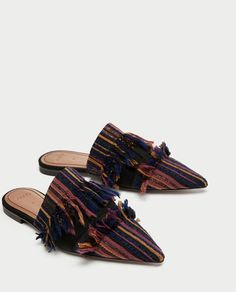 FLAT FRAYED FABRIC MULES-NEW IN-WOMAN | ZARA United States