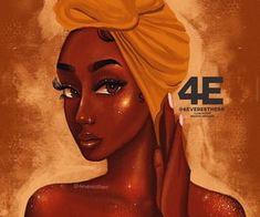 Black Love Art, Black Girl Art, Art Girl, Black Art Painting, Black Artwork, Afro Art, Drawings Of Black Girls, Arte Black, Natural Hair Art