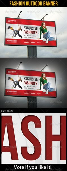 Fashion Outdoor Banner 19 — Photoshop PSD #fashion #studio • Available here → https://graphicriver.net/item/fashion-outdoor-banner-19/6938677?ref=pxcr