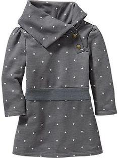 Inspiration - Fleece Cowl-Neck Dresses for Baby Toddler Girl Style, Toddler Girl Outfits, Toddler Dress, Baby Dress, Baby Fall Fashion, Little Girl Fashion, Kids Fashion, Baby Girl Clothes Sale, Girls Dresses Online