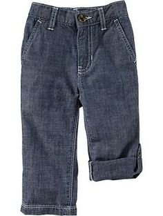 Chambray Roll-Up Pants for Baby