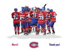 Canadiens de Montréal.... this is for Ron