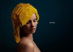 LEGO Wigs - Very unusual, but I doubt if there will be a lot of people who will want to wear this wig in public.