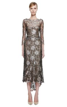 """Saw another dress from this collection on Georgina Chapman in an episode of """"Under the Gunn."""" Could NOT take my eyes off it. Stunning! Laminated Lace Cocktail Dress by Marchesa vian Moda Operandi"""