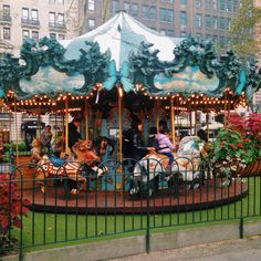 Bryant Park Holiday Shops - NYC - Carousel