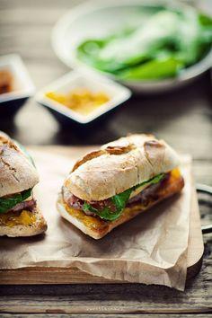 Burgers + Bacon, BBQ Sauce & Mango Salsa