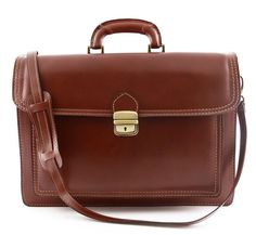 Leather Briefcase  Modi  Tuscan Leather by DreamLeatherBags