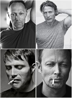 baba-yaga-not-only: Mikkelsen brothers. Genetics are a funny and wonderful thing. ¯\_(ツ)_/¯