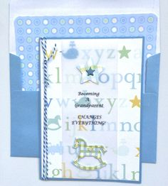 Grandparent Congratulations by sentimentsbydesign1 on Etsy