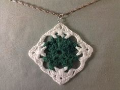 This shamrock pendant is a stylish way to help you celebrate St. Patrick's Day. It might also look great as an earring. And if you want to go crazy with this pretty square, why not crochet up an afghan or a bag? More ideas are listed on the pattern page.