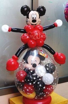 Minnie Mouse themed stuffed balloon. Makes for a great gift!