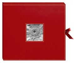"""Scrapbook: Pioneer ~ 12"""" by 12"""" Sewn Leatherette Scrapbook Box = Red - 2009"""