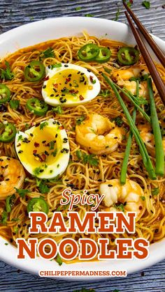 I love a good spicy ramen noodles recipe. So delicious! Ready in about 15 minutes or so. I do love easy cooking, especially with such HUGE flavor. This particular recipe will give you a nice and spicy ramen noodle recipe. However, you can very easily dial back on the spicier ingredients for a not-so-spicy experience. If you're looking for even SPICIER ramen, add in some hotter peppers, extra chili flakes, and also more of the hot stuff, like gochujang.