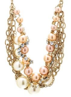 layered chain pearl necklace set $26.10 in GOLDIVORY - Necklaces | GoJane.com