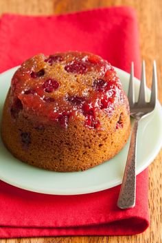 Hungry Cravings: Cranberry Gingerbread Upside Down Cakes
