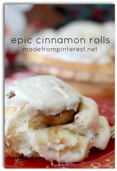 Warm, gooey and cinnamony! Epic Cinnamon Roll Recipe
