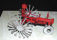 Dodge man creates sculptures out of nuts, bolts, washers and other metal