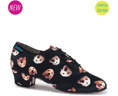Shoe Dog' is our latest limited edition 'Heather Split' print and it's the most unique! We have put the photos of the two dogs of our owners onto a shoe! It fea Two Dogs, Our Baby, Dance Wear, Converse Chuck Taylor, High Top Sneakers, Two By Two, Dance Shoes, Ballet Skirt, Product Launch