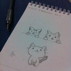 Desenho 6 de 365: Gatinhos <3