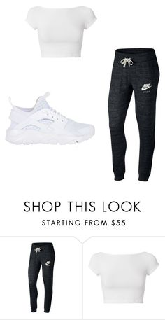 """teppin"" by chyncast on Polyvore featuring NIKE and Helmut Lang"