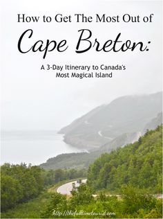 Having lived in Canada my entire life and not hearing about the incredible beauty of Cape Breton island in Nova Scotia, Canada, I knew I needed to explore it for myself. With rolling red hills covered in dense green trees, and fog rolling over the hillsid Toronto Canada, Pvt Canada, Visit Canada, East Coast Travel, East Coast Road Trip, Alberta Canada, Quebec, Nova Scotia Travel, Nova Scotia Tourism