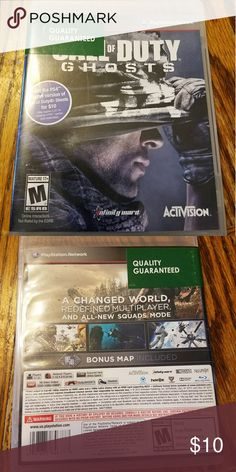 BRAND NEW CALL OF DUTY GHOSTS GAME EXCELLENT CONDITION AND FOR THE GAME SYSTEM PS3 sony playstation Accessories